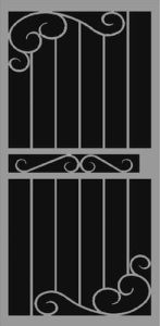 Naples | Hand Forged Series | Steel Shield Security Doors & More | Arizona Security Doors