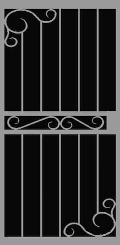 Tortosa | Hand Forged Series | Steel Shield Security Doors & More | Arizona Security Doors