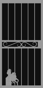Barrel Racer Security Door | Classic Series | Steel Shield Security Doors & More | Arizona Security Doors