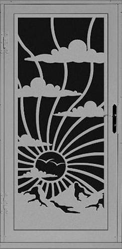 Clouds Security Door | Laser Series | Steel Shield Security Doors & More | Arizona Security Doors