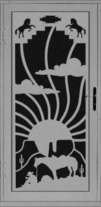 Cowpoke Security Door | Laser Series | Steel Shield Security Doors & More | Arizona Security Doors