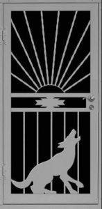 Coyote Evening | Premier Series | Steel Shield Security Doors & More | Arizona Security Doors