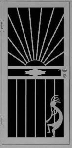 Kokopelli Evening | Premier Series | Steel Shield Security Doors & More | Arizona Security Doors