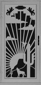 Sun Down Security Door   Laser Series   Steel Shield Security Doors & More   Arizona Security Doors