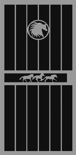 Wild Stallion Security Door | Classic Series | Steel Shield Security Doors & More | Arizona Security Doors