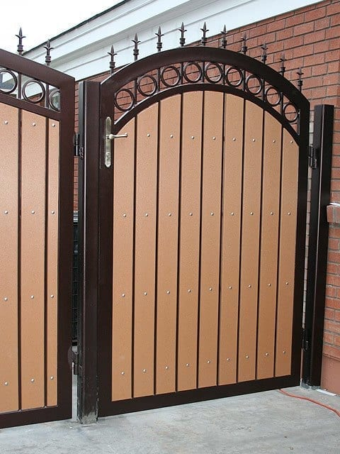 Wood gates steel shield security doors more