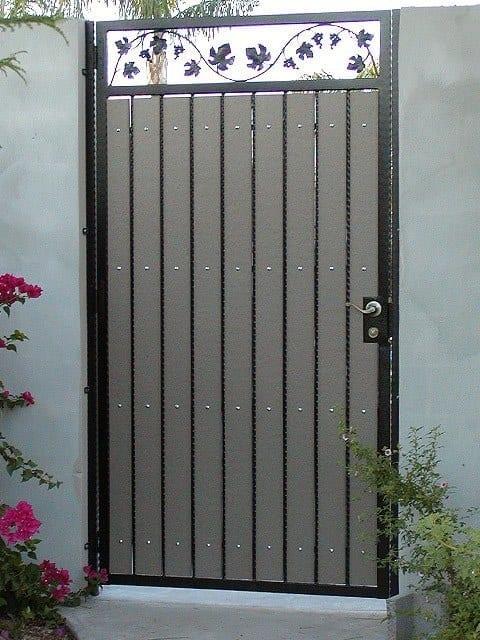 Wood Gates Steel Shield Security Doors