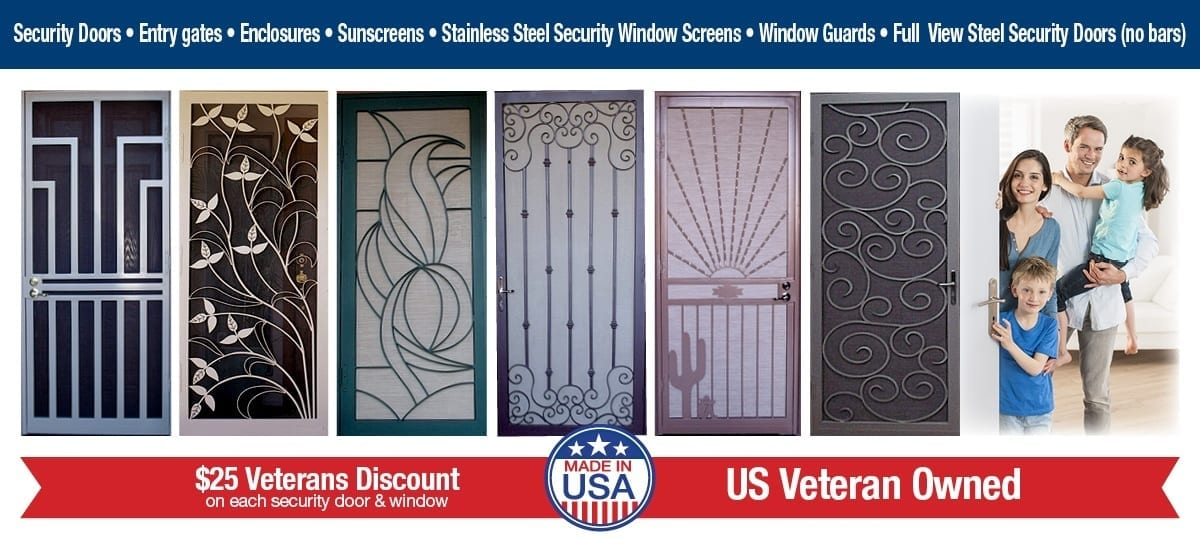 Steel Shield Security Doors & More | Security Doors | Gates | Window Guards | Entry Enclosures | Sun Screens | Crimsafe Products